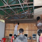 Stripping the old ceiling